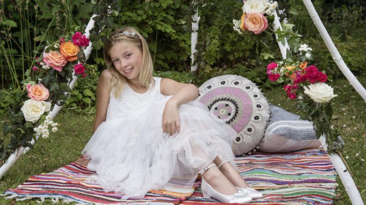 Bruidsmeisjes communiejurk lentefeest / TOTALE UITVERKOOP